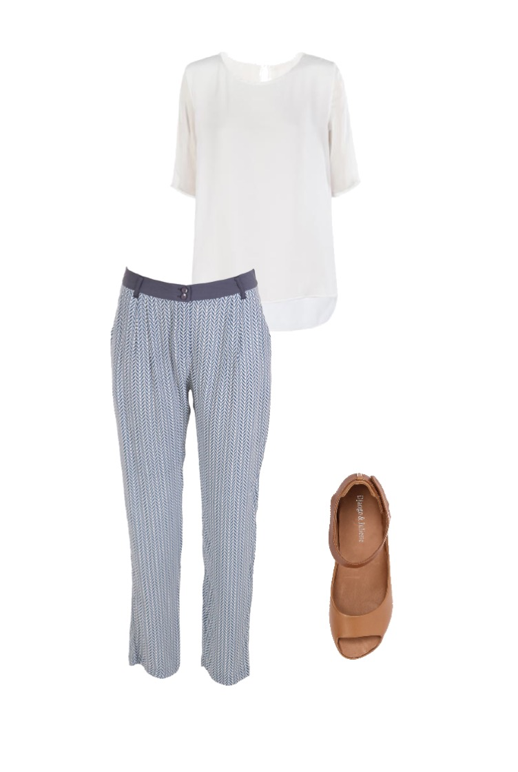 Silk tee: Skin and Threads; Shoes: Django & Juliette